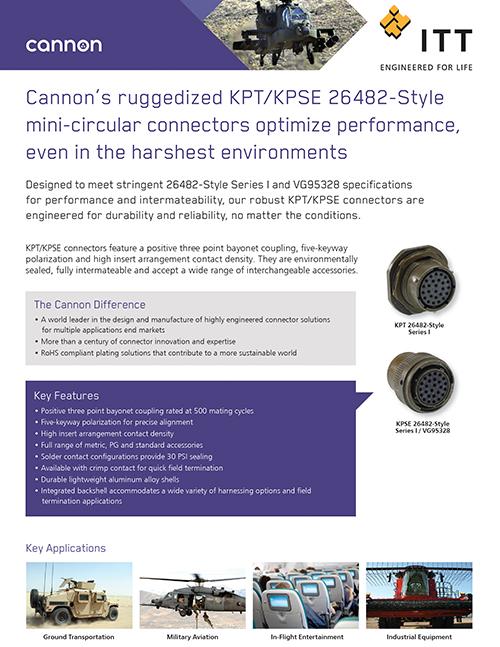 ITT Cannon - KPT/KPSE 26482-Style